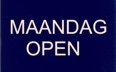 Tante Pos op de maandag OPEN